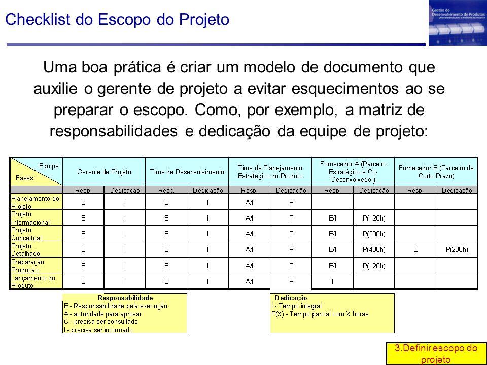 3.Definir escopo do projeto