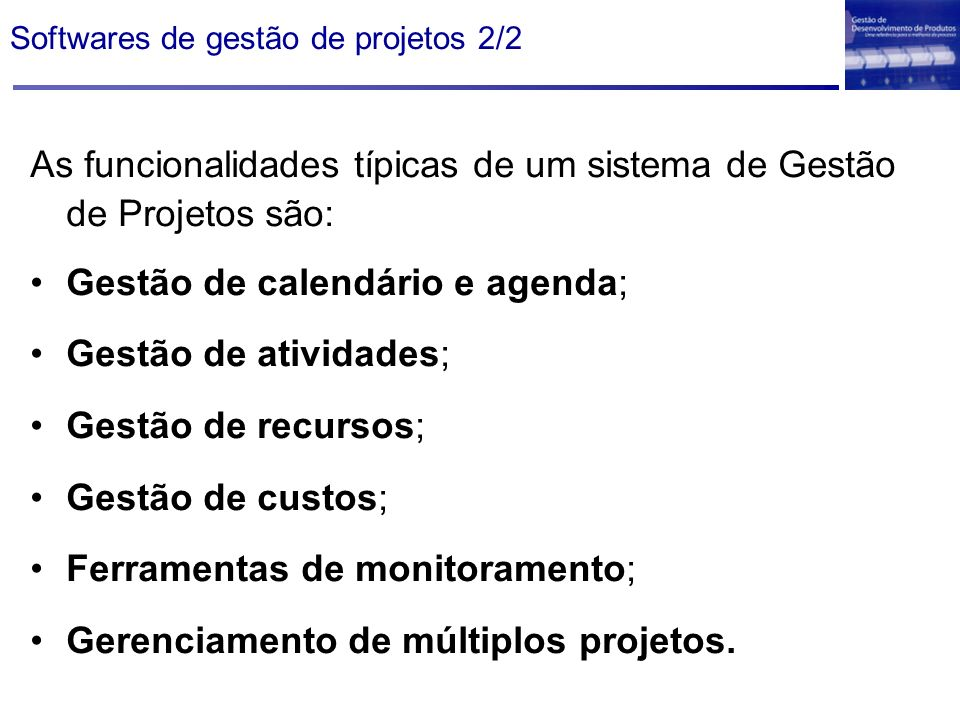 Softwares de gestão de projetos 2/2