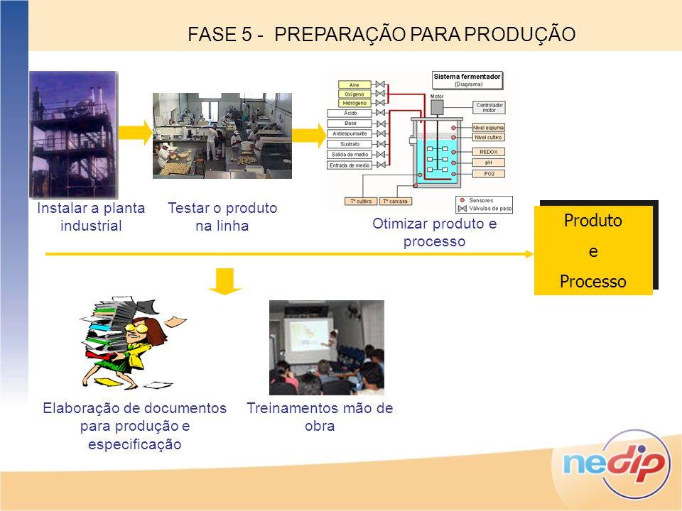 FASE 5 - PREPARAÇÃO PARA PRODUÇÃO