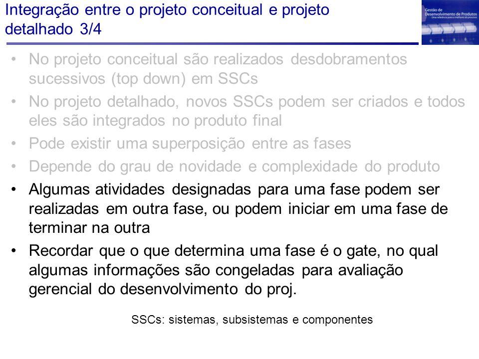 Integração entre o projeto conceitual e projeto detalhado 3/4