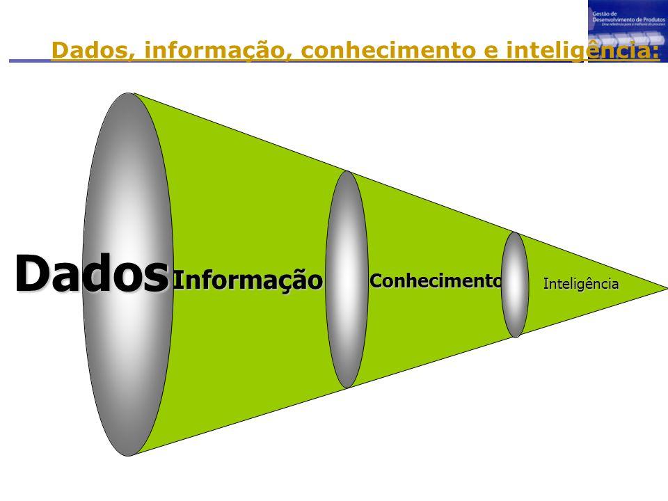 Dados, informação, conhecimento e inteligência: