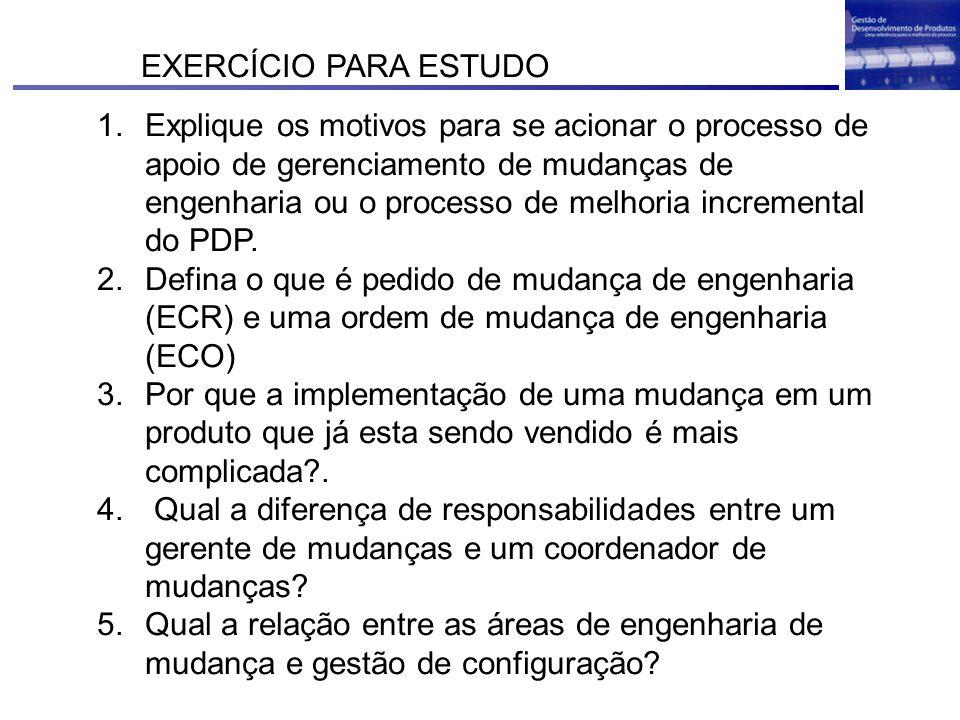 EXERCÍCIO PARA ESTUDO
