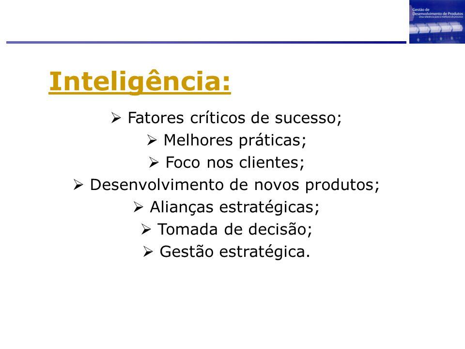 Inteligência: Fatores críticos de sucesso; Melhores práticas;