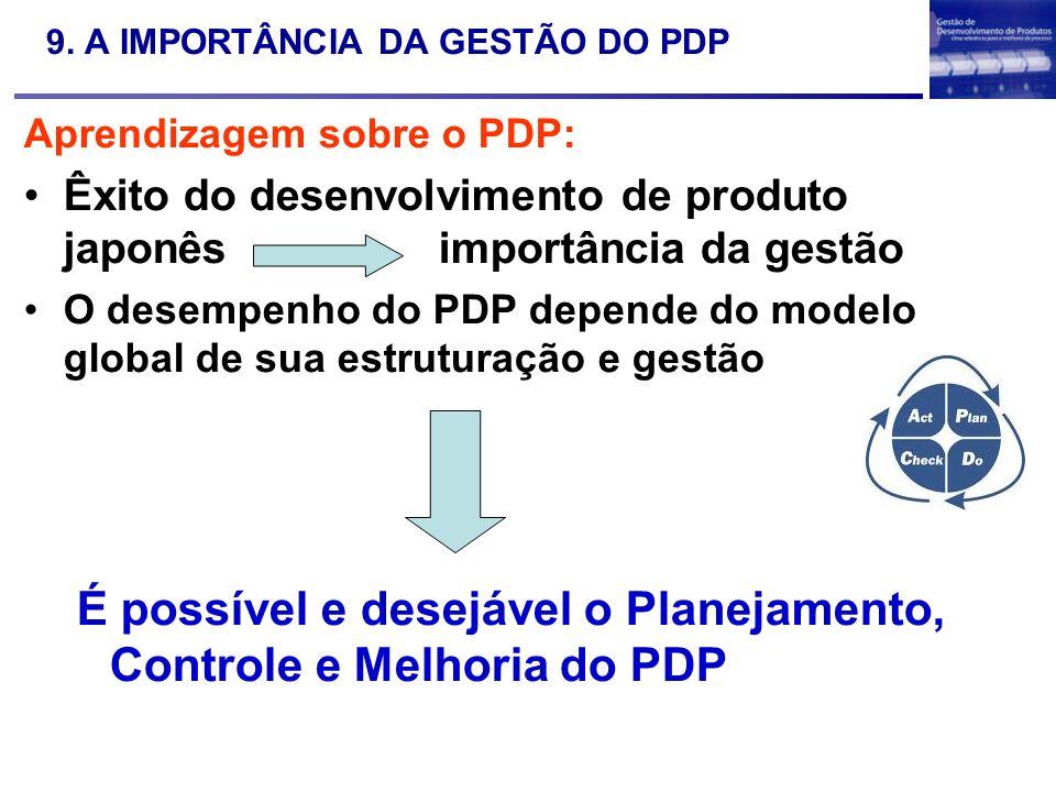 9. A IMPORTÂNCIA DA GESTÃO DO PDP