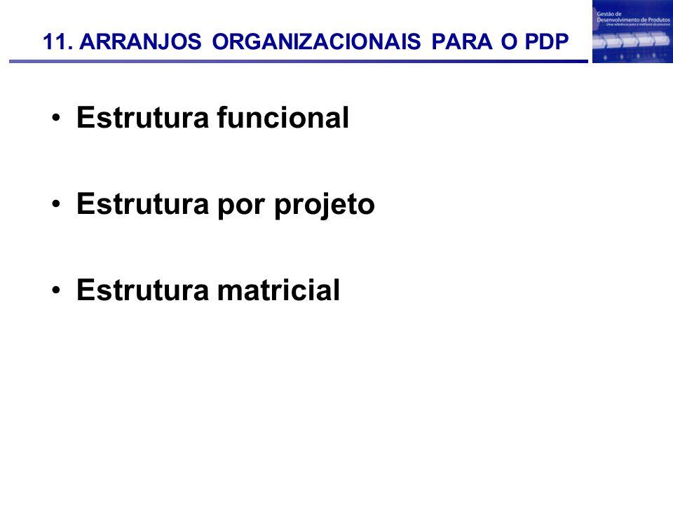 11. ARRANJOS ORGANIZACIONAIS PARA O PDP