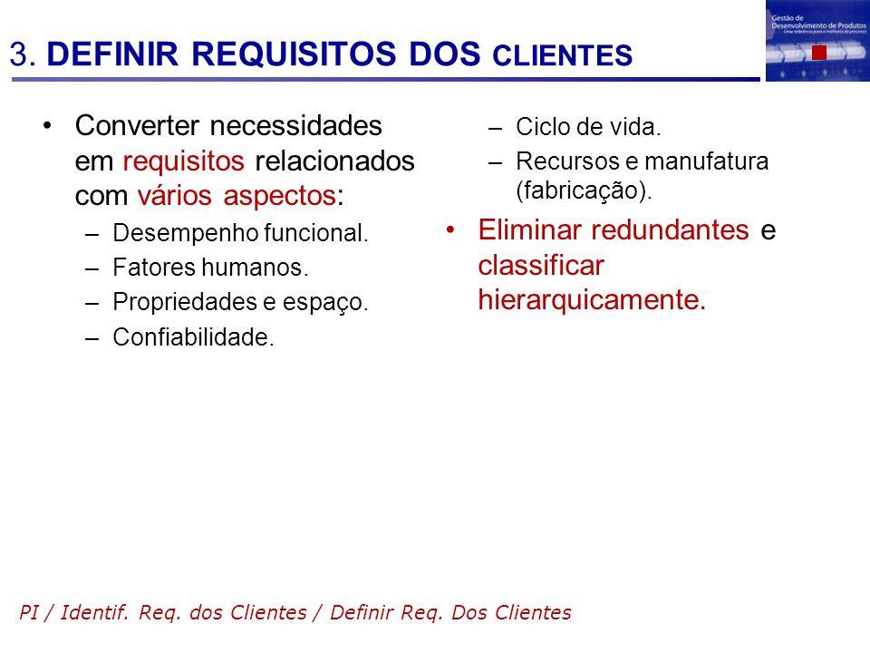 3. DEFINIR REQUISITOS DOS CLIENTES