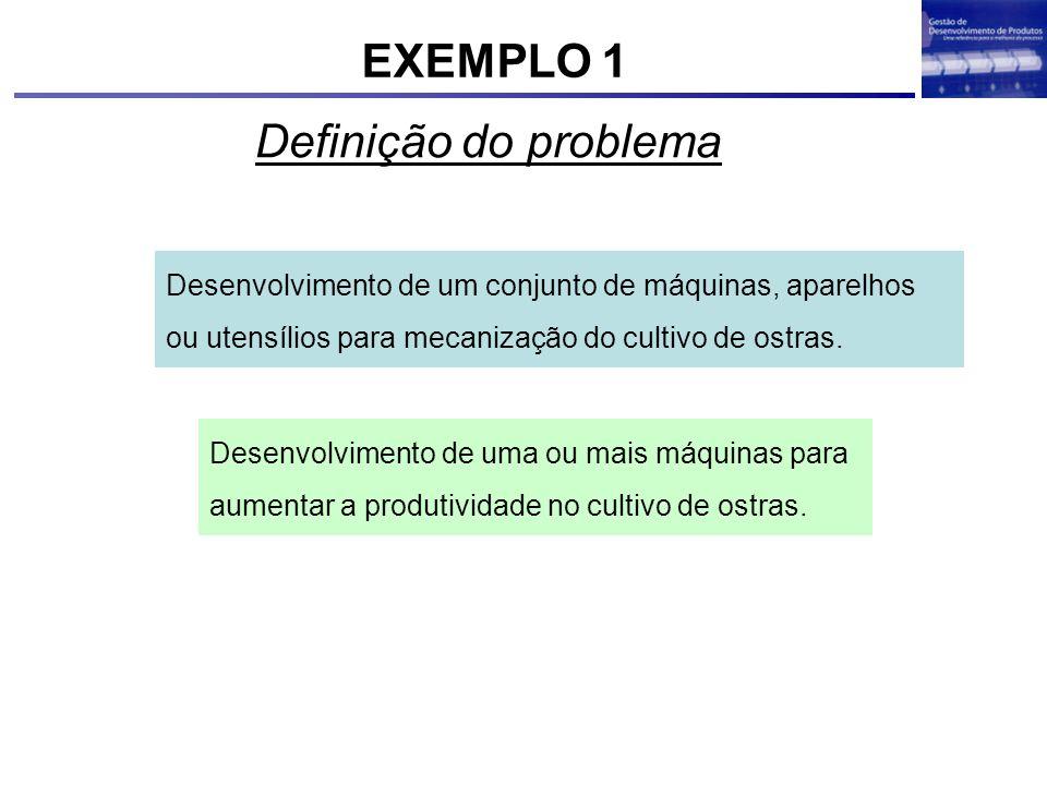 EXEMPLO 1 Definição do problema
