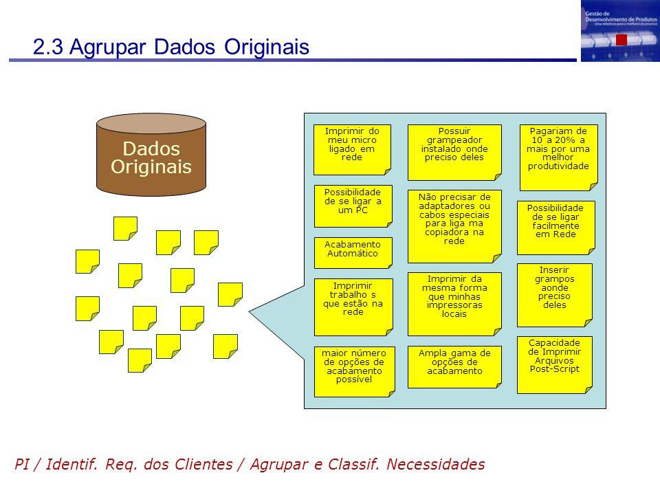 2.3 Agrupar Dados Originais