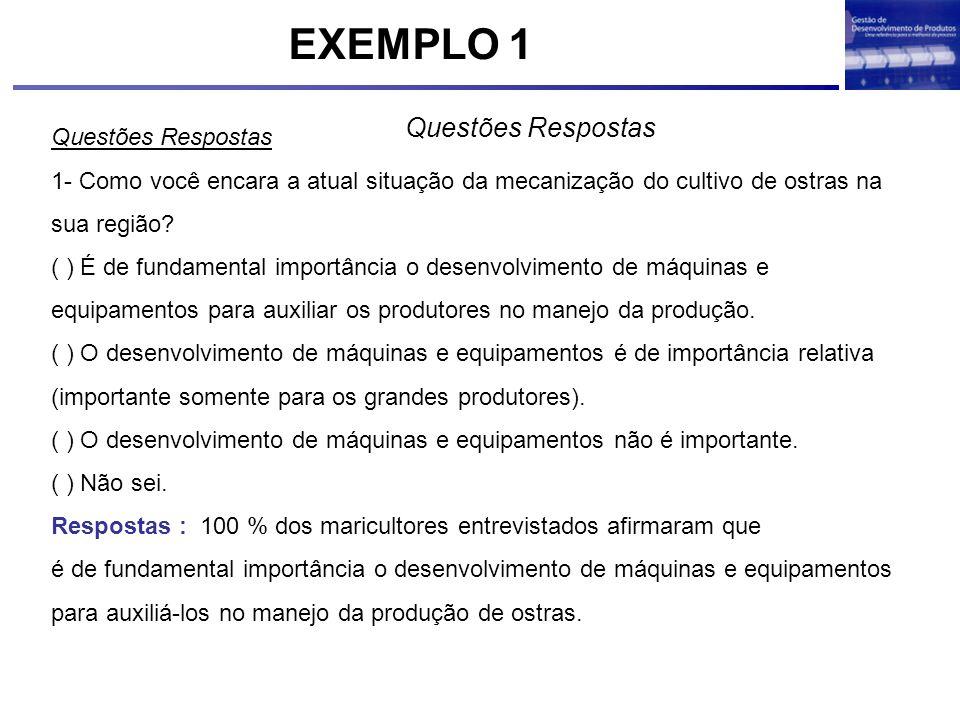 EXEMPLO 1 Questões Respostas Questões Respostas