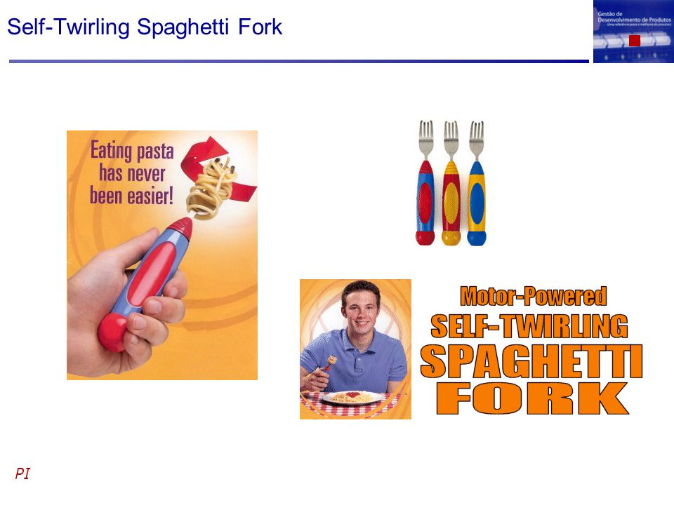 Self-Twirling Spaghetti Fork