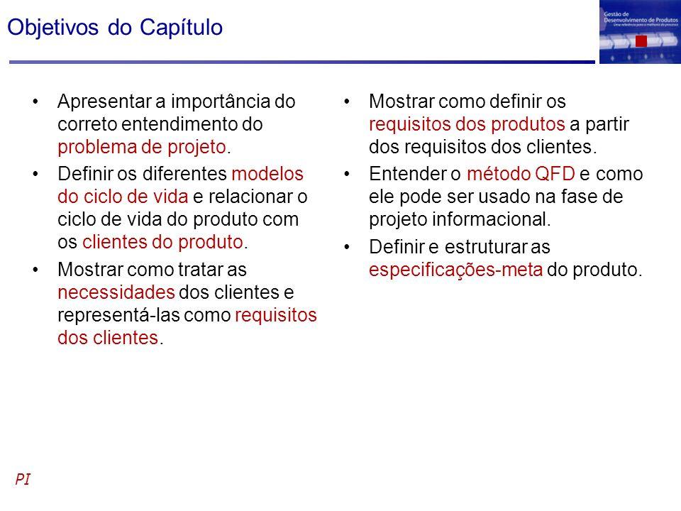 Objetivos do Capítulo Apresentar a importância do correto entendimento do problema de projeto.