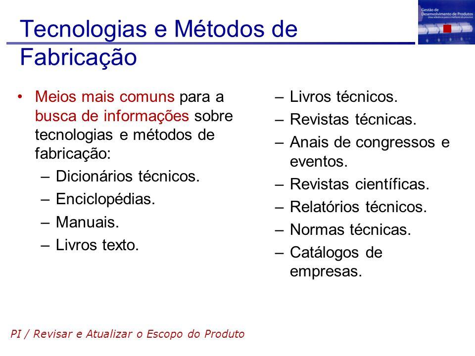 Tecnologias e Métodos de Fabricação