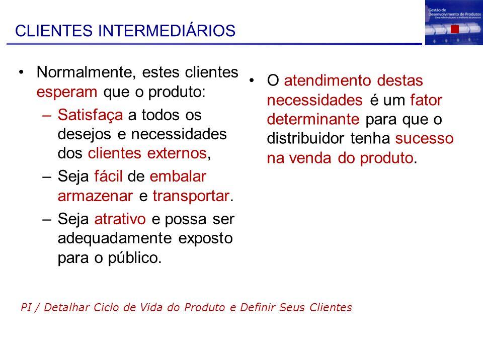 CLIENTES INTERMEDIÁRIOS
