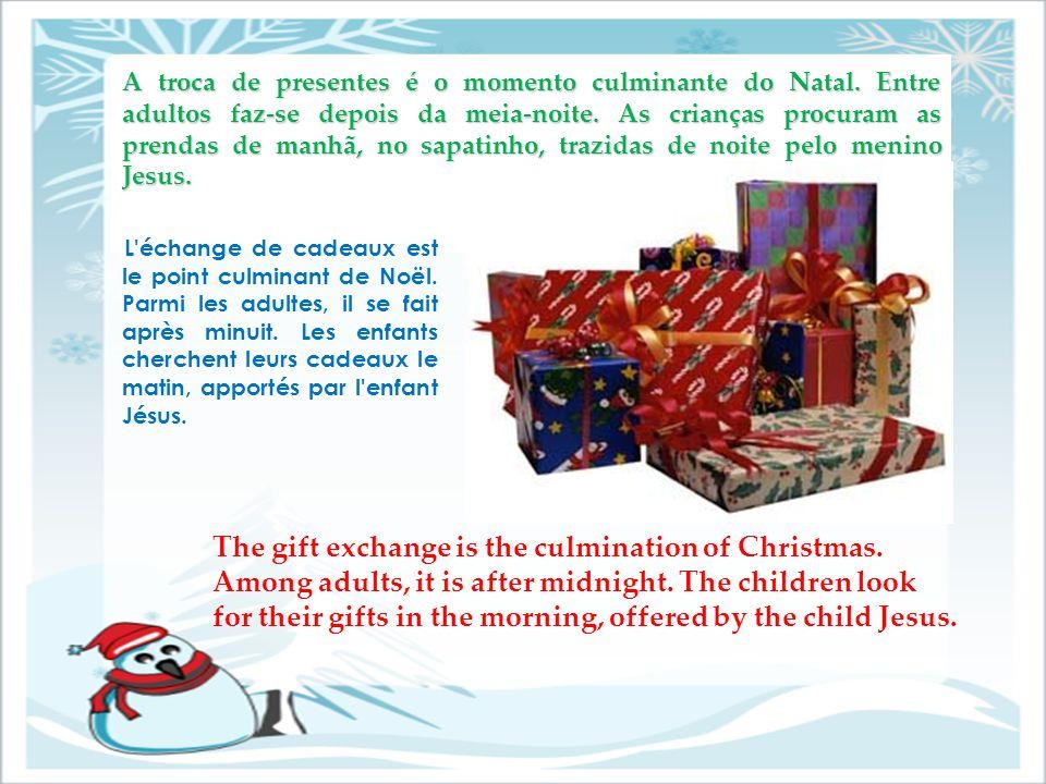 A troca de presentes é o momento culminante do Natal