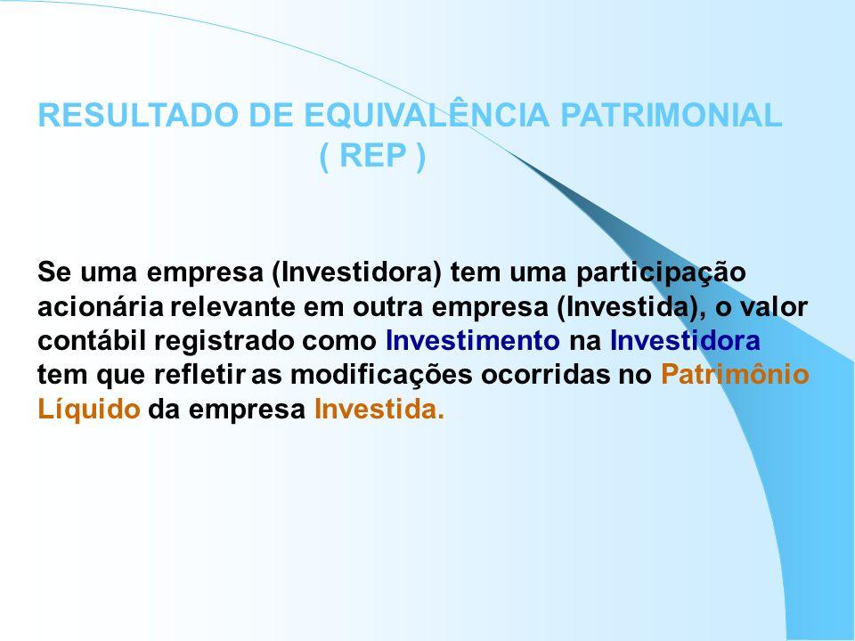 RESULTADO DE EQUIVALÊNCIA PATRIMONIAL ( REP )