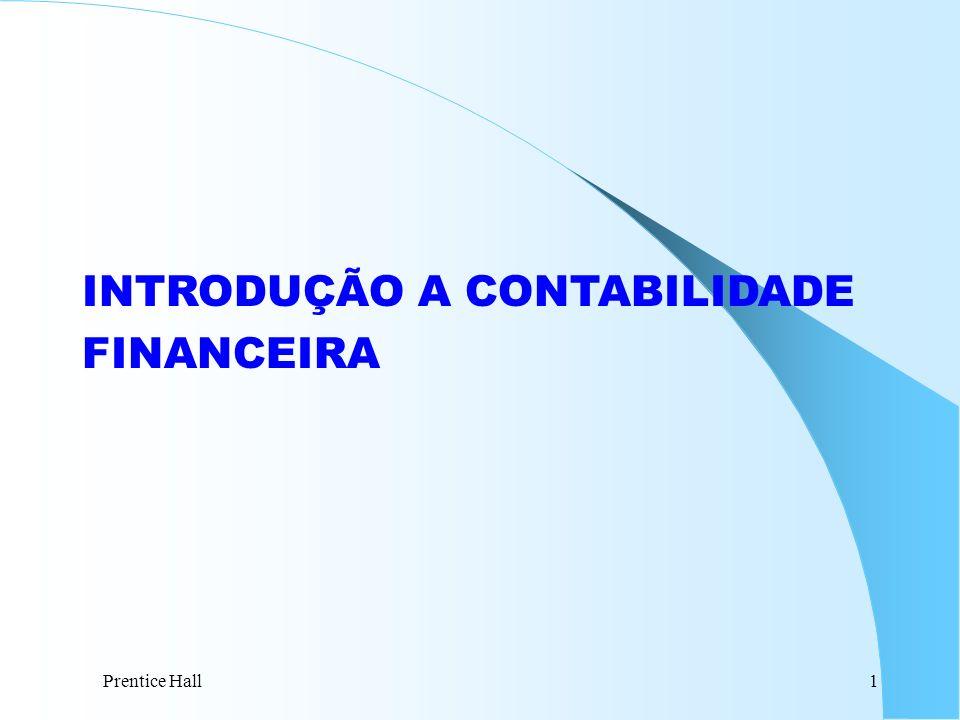 INTRODUÇÃO A CONTABILIDADE FINANCEIRA