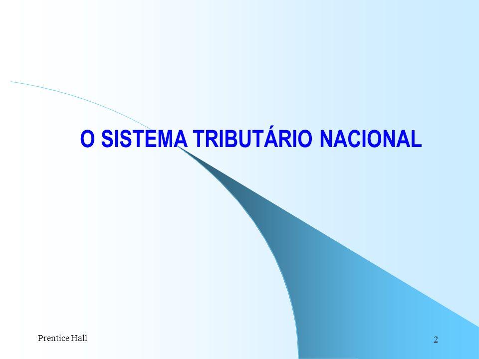 O SISTEMA TRIBUTÁRIO NACIONAL