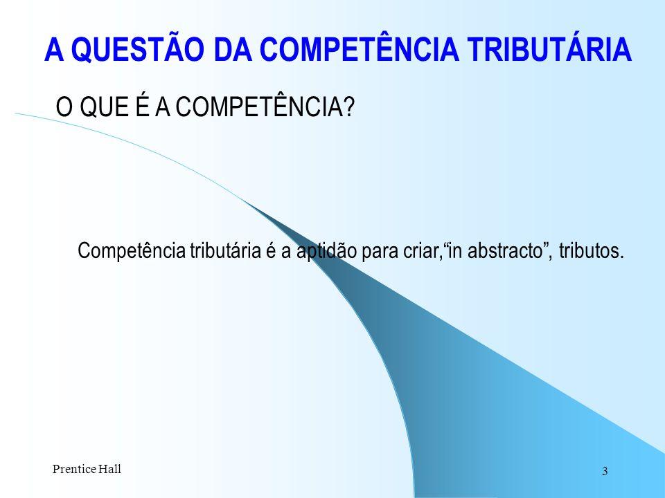 A QUESTÃO DA COMPETÊNCIA TRIBUTÁRIA