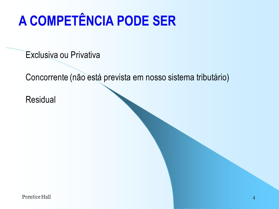A COMPETÊNCIA PODE SER Exclusiva ou Privativa