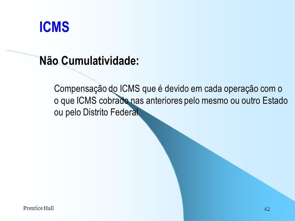 ICMS Não Cumulatividade: