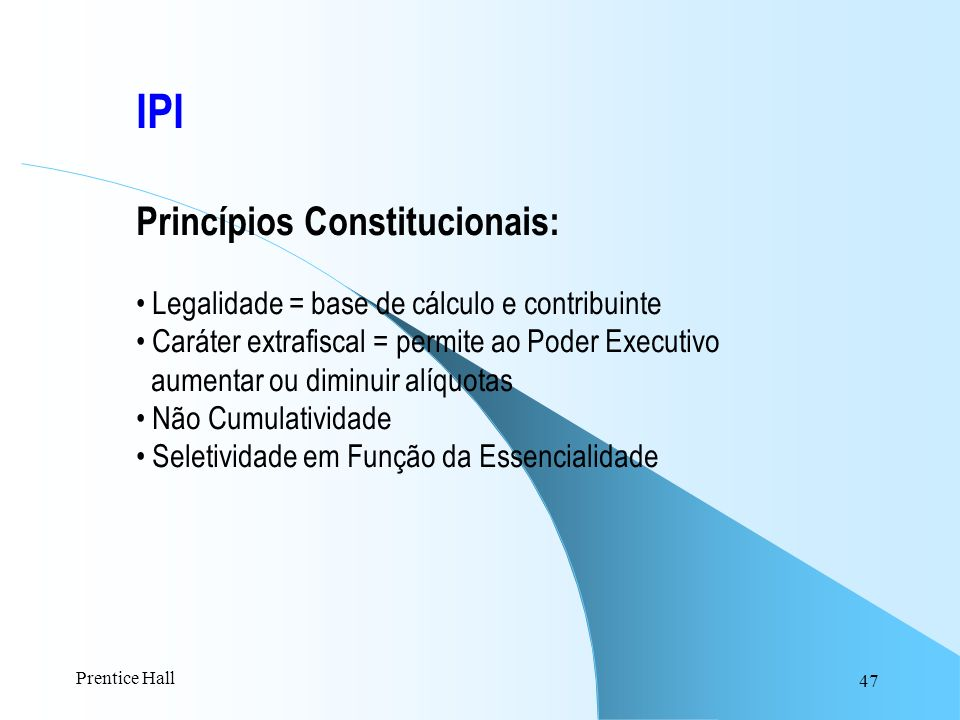 IPI Princípios Constitucionais: