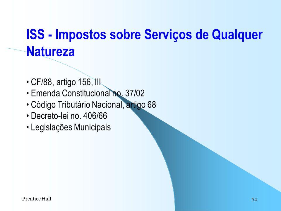 ISS - Impostos sobre Serviços de Qualquer Natureza