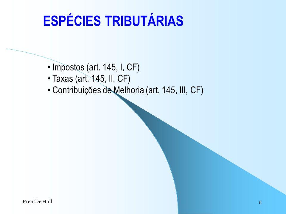 ESPÉCIES TRIBUTÁRIAS Impostos (art. 145, I, CF)