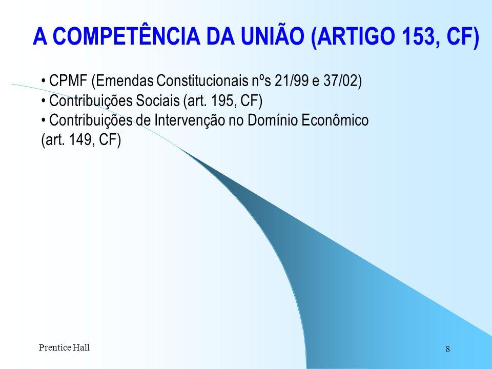 A COMPETÊNCIA DA UNIÃO (ARTIGO 153, CF)