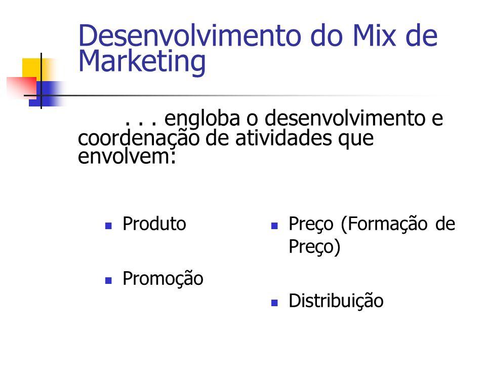 Desenvolvimento do Mix de Marketing