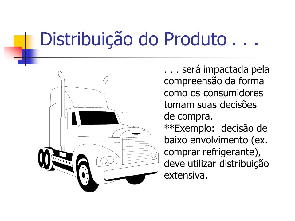 Distribuição do Produto . . .