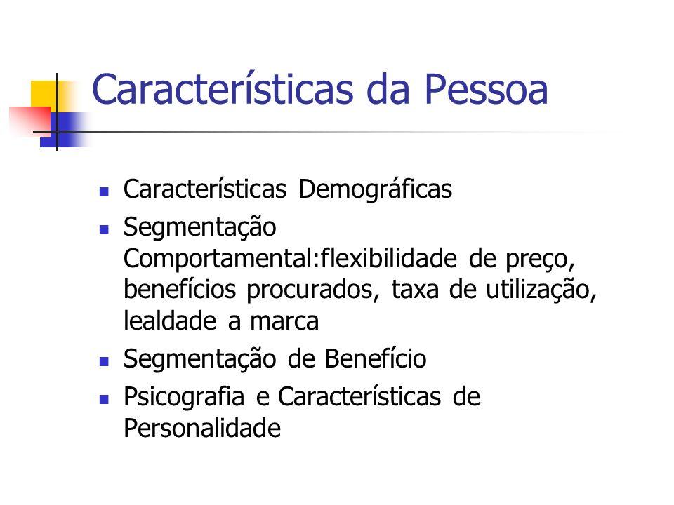 Características da Pessoa