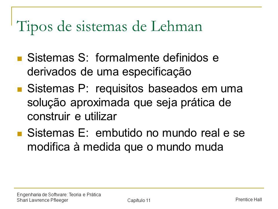 Tipos de sistemas de Lehman