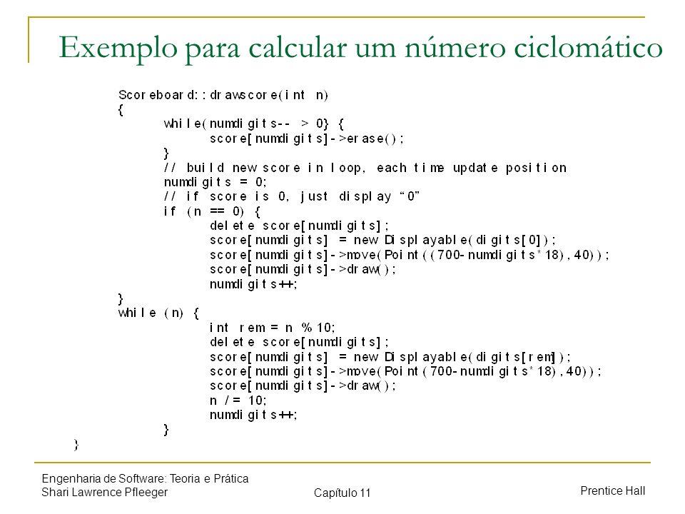 Exemplo para calcular um número ciclomático