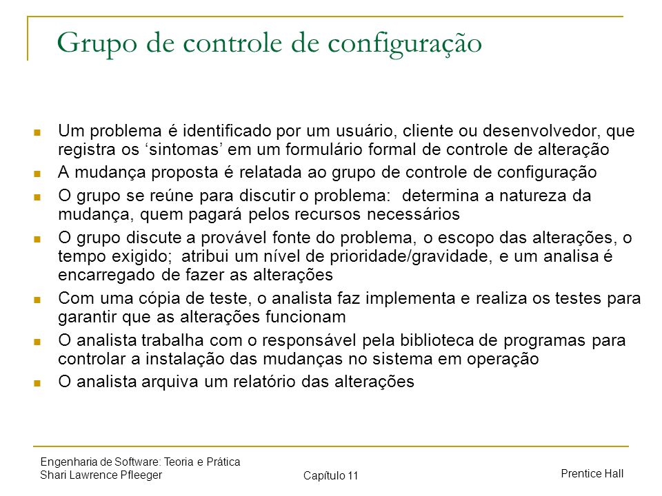 Grupo de controle de configuração