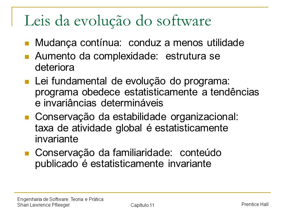 Leis da evolução do software