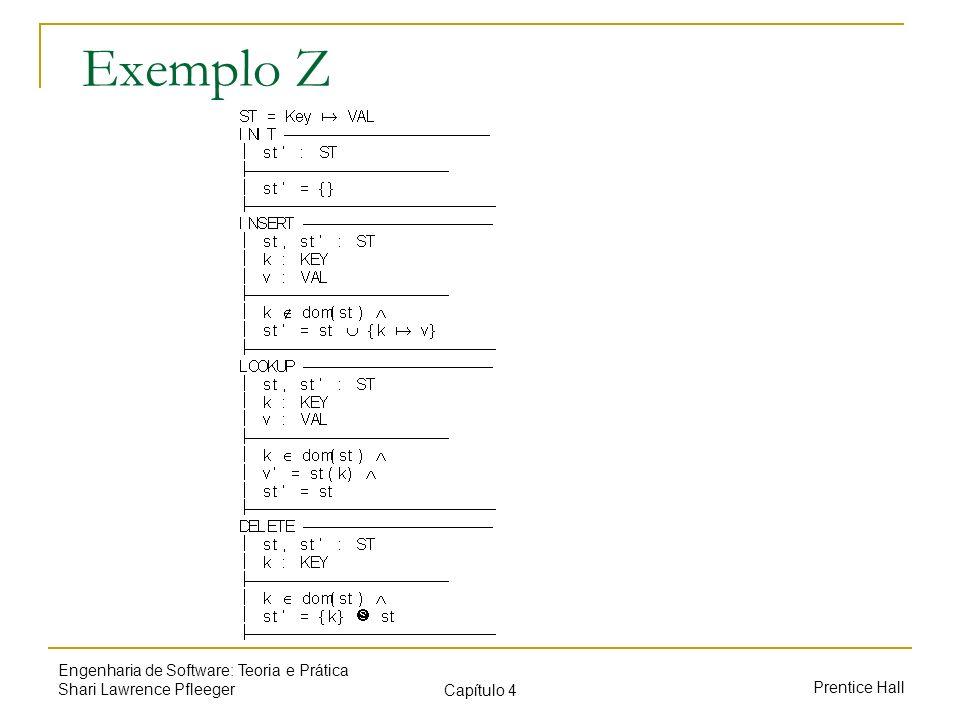 Exemplo Z Engenharia de Software: Teoria e Prática