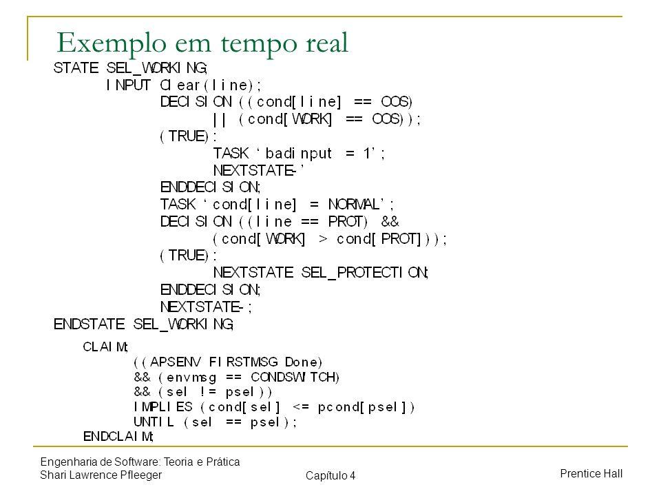Exemplo em tempo real Engenharia de Software: Teoria e Prática