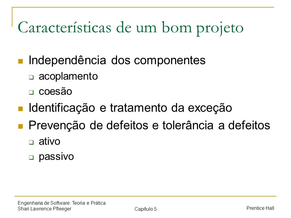 Características de um bom projeto