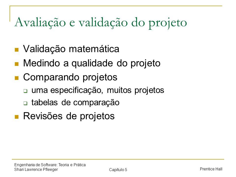 Avaliação e validação do projeto