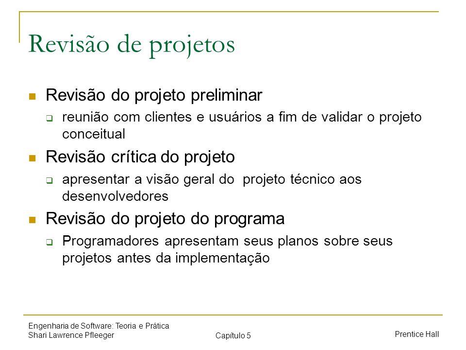 Revisão de projetos Revisão do projeto preliminar