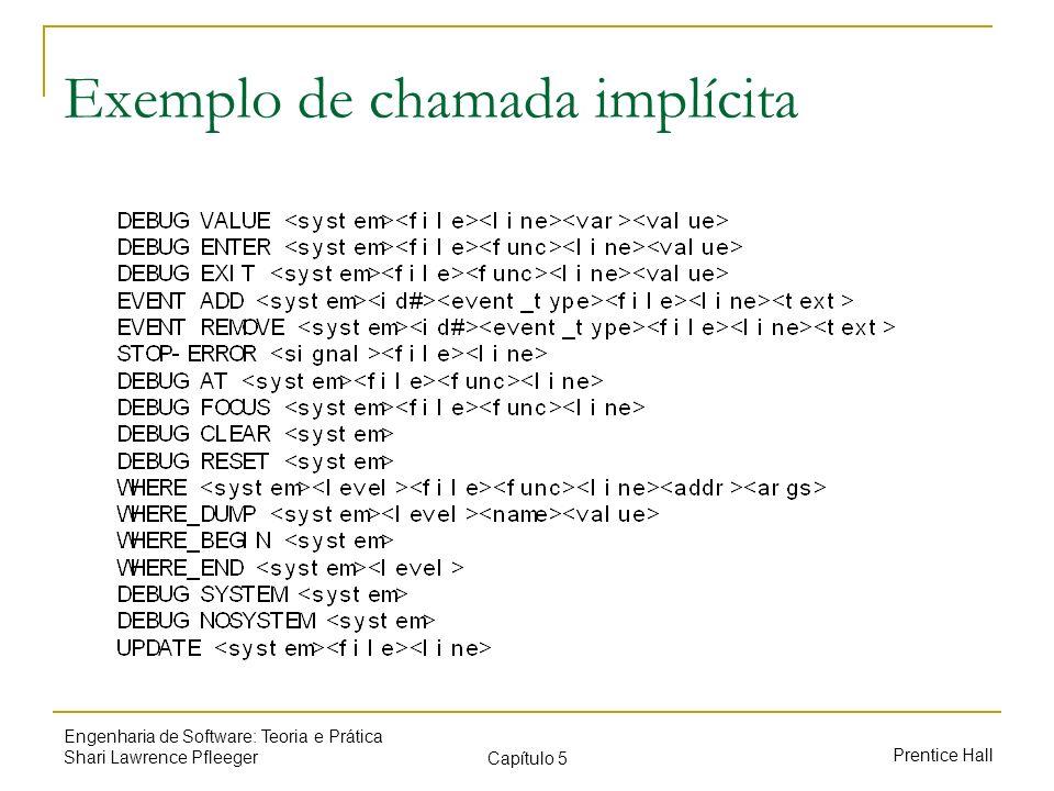 Exemplo de chamada implícita