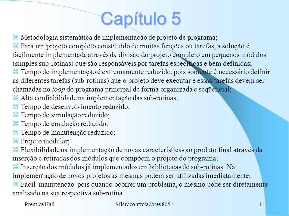 Capítulo 5 Metodologia sistemática de implementação de projeto de programa;