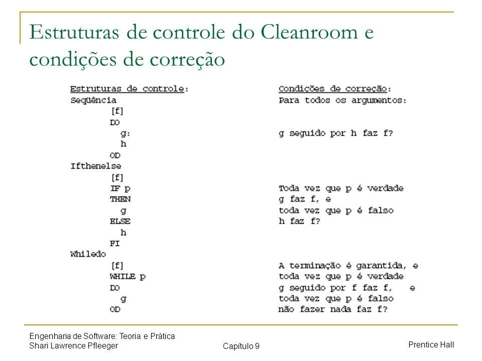 Estruturas de controle do Cleanroom e condições de correção