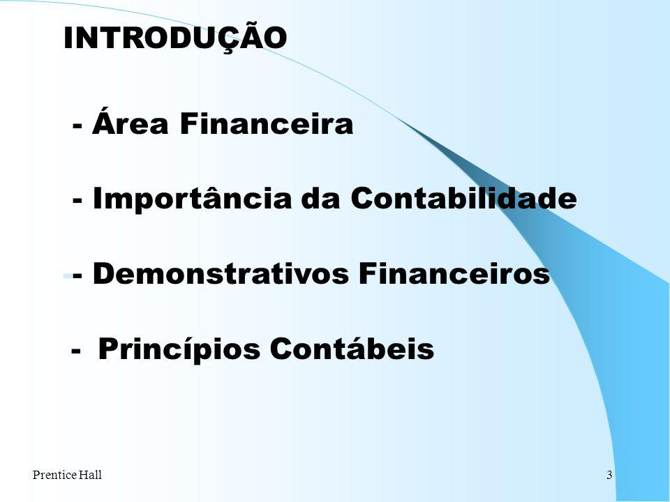 - Importância da Contabilidade - Demonstrativos Financeiros