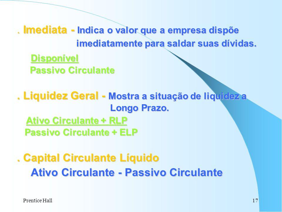 Ativo Circulante - Passivo Circulante