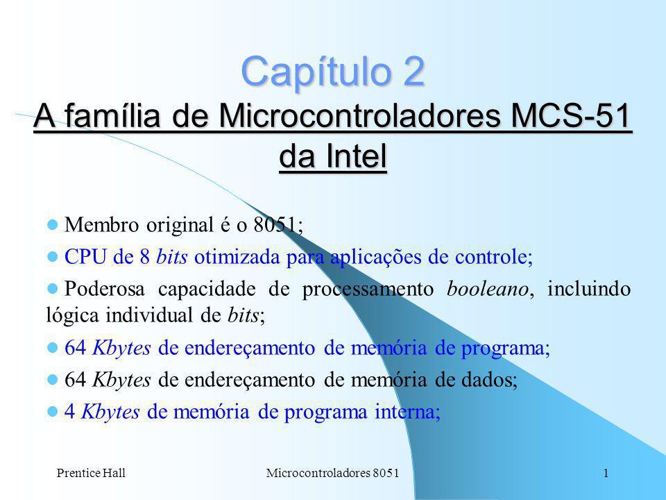 Capítulo 2 A família de Microcontroladores MCS-51 da Intel