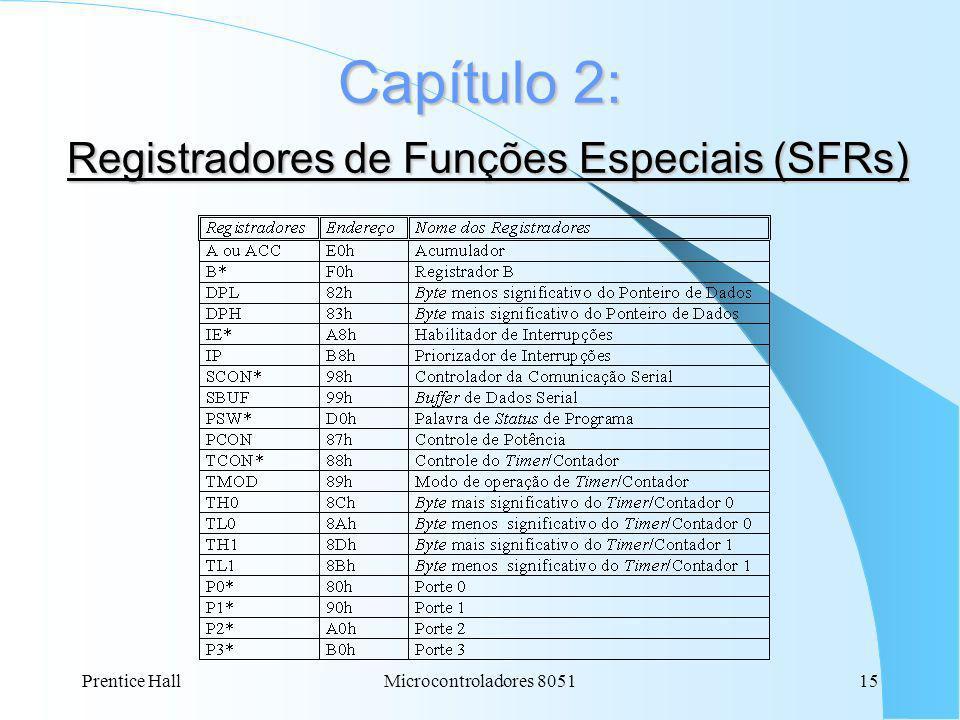 Capítulo 2: Registradores de Funções Especiais (SFRs)