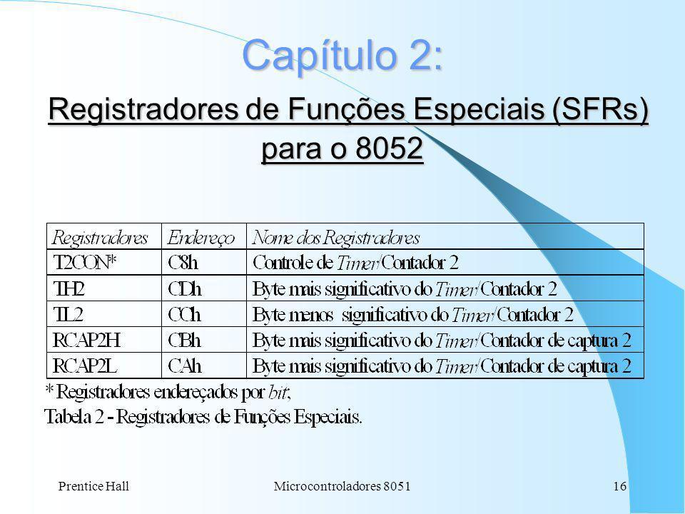 Capítulo 2: Registradores de Funções Especiais (SFRs) para o 8052