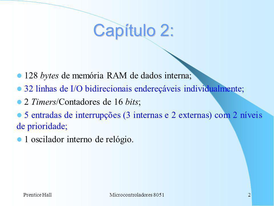 Capítulo 2: 128 bytes de memória RAM de dados interna;