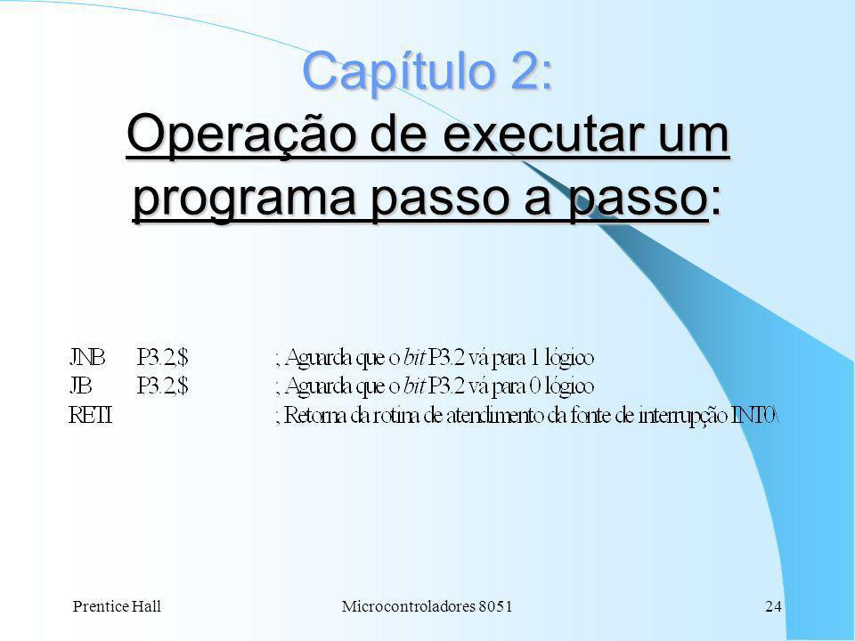 Capítulo 2: Operação de executar um programa passo a passo:
